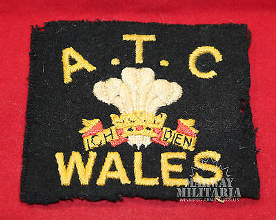 A.T.C. WELSH Air Training Corps Jacket Crest (inv 8129)