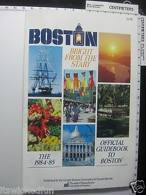 1984-1985 Official Guidebook to Boston