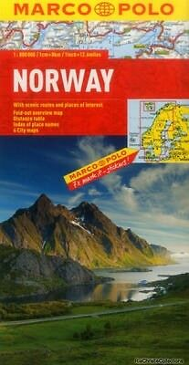 Norway Marco Polo Map Marco Polo Sheet map folded New Book Free UK Delivery