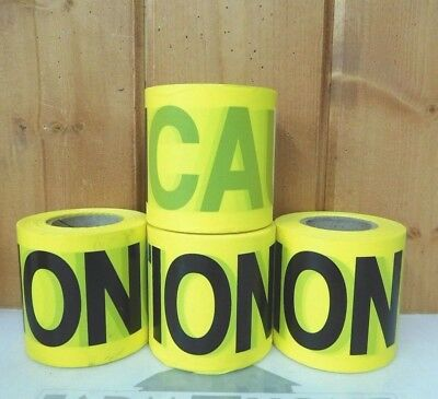 "4 Rolls of 3"" Caution Barricade Tape ~ New ~ Free Shipping"