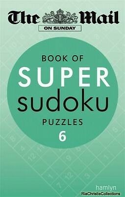 Book of Super Sudoku Puzzles Daily Mail New Paperback Free UK Post