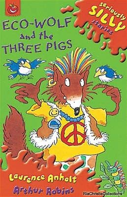 Eco-Wolf and the Three Pigs Laurence Anholt New Paperback Free UK Post