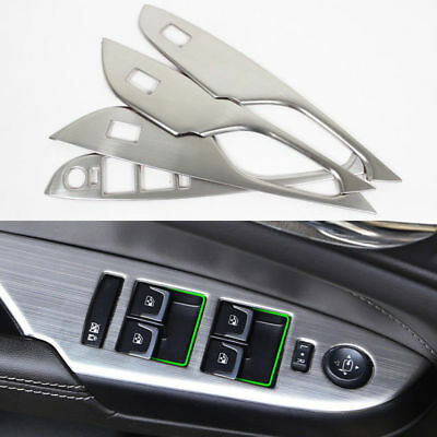 For Cadillac SRX 2010-2016 4pcs Stainless Steel Decorative Door Armrests Frame