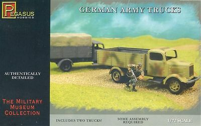 Pegasus7610 German Army Trucks (2), 1:72 - Brand New