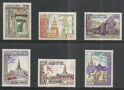 Laos: Scott 60 - 65 Mlh Set - 1959 Historic Monuments Issue