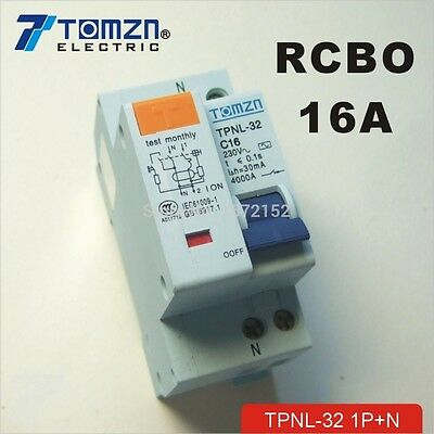 DPNL 16A 230V~ 50HZ/60HZ 1P+N Residual current Circuit breaker