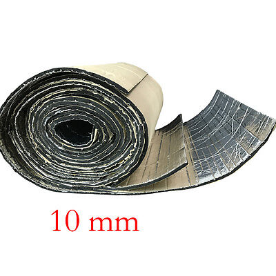 2Roll 10mm Car Sound Proofing Deadening Vehicle Insulation Cell Foam Glass Fibre