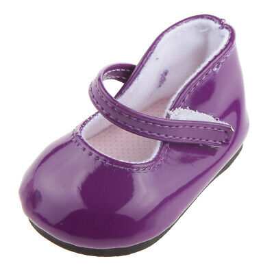Purple Mary Jane Shoes Accessories for 18 inch American Girl AG Journey Doll