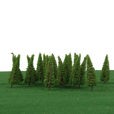 50pc HO OO Green Model Trees Layout Train Railway Road Diorama Scenery 6.5cm