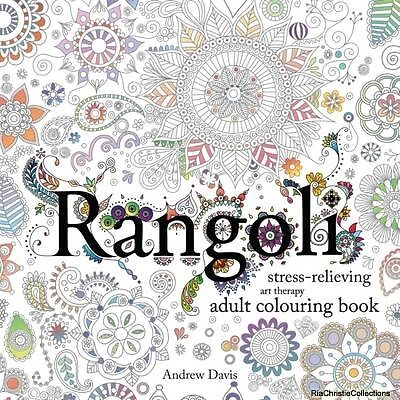 Rangoli Stress-Relieving Art Therapy Adult Colouring Book Andrew David New Paper