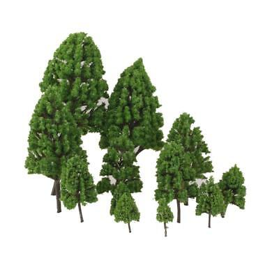 12 Landscape Scenery Trees Model Train Wargame Diorama Layout OO HO N Z Scale