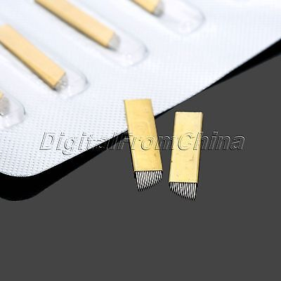 5Pcs Microblading Blades for Eyebrow Tattoo Permanent Makeup Manual Needles