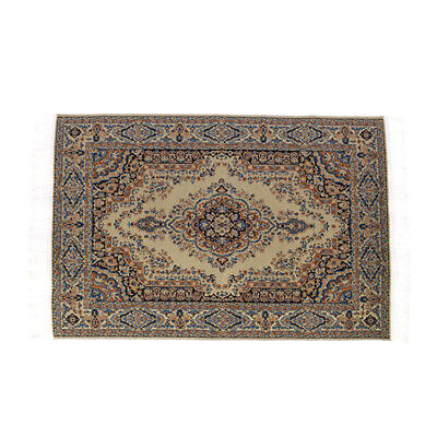 Dollhouse Miniature Rug Carpet Turkish Woven floral mat floor covering 12th