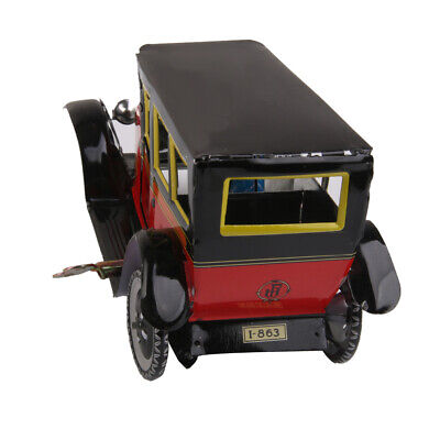 Wind Up CLOCKWORK Vintage Taxi Car and Driver Tin Toy Collectible Xmas Gift