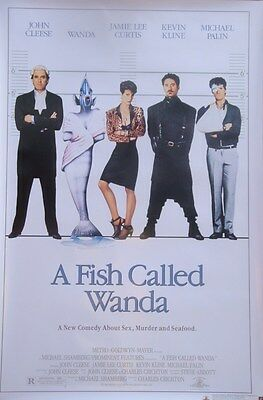 A Fish called wanda Dvd Poster Single Sided Original Movie Poster 27x40 inches