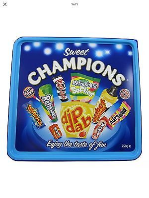 750g Sweet Champions Tin - Retro Sweets - Perfect Gift ONLY £6.99