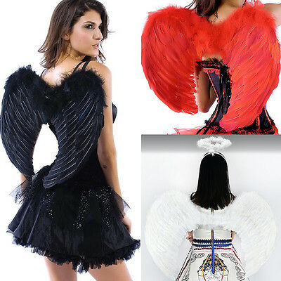 Angel Feather Wings Cosplay Fancy Dress Costume event Halloween Muti-size&Color