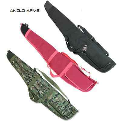 Anglo Arms Padded Air Rifle Gun Bag Shooting Case With Strap Black, Pink Or Camo