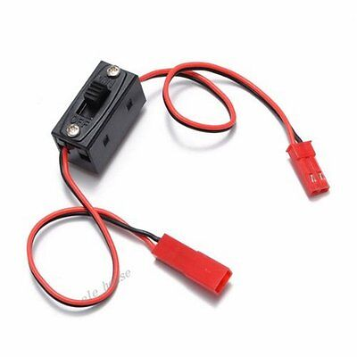 On/Off Switch JST Connector Male Female Adapter Cable Wire For RC Li-po Battery