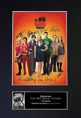 THE BIG BANG THEORY Signed Mounted Autograph Photo Prints A4 272
