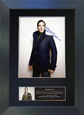 BENEDICT CUMBERBATCH Signed Mounted Autograph Photo Prints A4 420