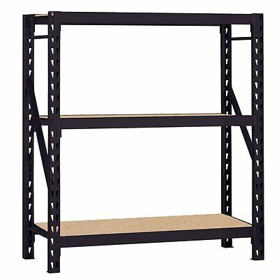 New Rack Heavy Duty Steel Bulk Storage Rack W 3 Shelves 1200 Lbs Shelf Capacity