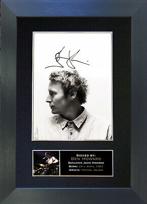 BEN HOWARD Signed Mounted Autograph Photo Prints A4 310