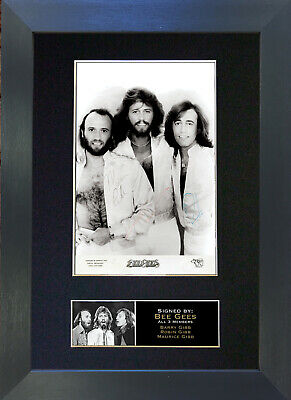 BEE GEES Signed Mounted Autograph Photo Prints A4 209