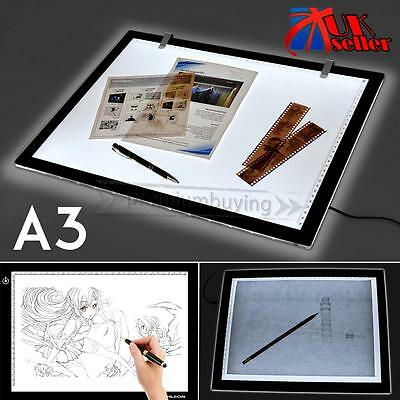Large A3 LED Ultra Slim Art Craft Tracing Tattoo Light Box Pad Board Lightbox