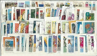 Australia Stamps 72 All Different On Paper
