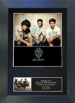JONAS BROTHERS Signed Mounted Autograph Photo Prints A4 207