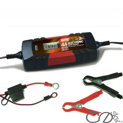 MAYPOLE Electronic Car Battery Charger 4A Fast/Trickle/Pulse Modes 4 AMP 7423