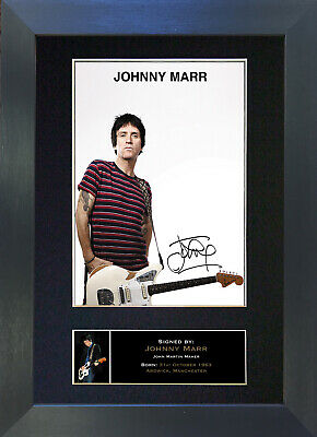 JOHNNY MARR Smiths Signed Mounted Autograph Photo Prints A4 326
