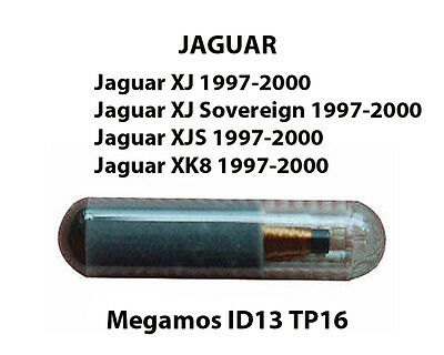 Jaguar Xj & Xjs Xk8 Transponder Key Fob Chip-Id13 Ready To Be Programmed