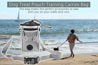 Pething Pet Dog Treat Pouch Training Carries Bag Dispenser Adjustable Waist Belt