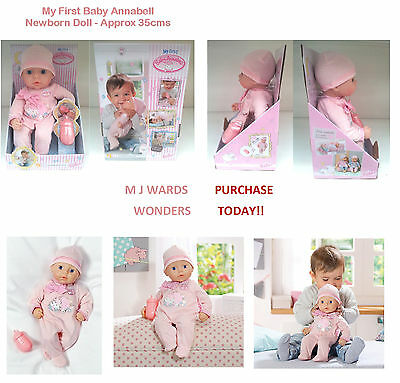 My First Baby Annabell - Newborn Doll - Approx 35cms ** PURCHASE TODAY **