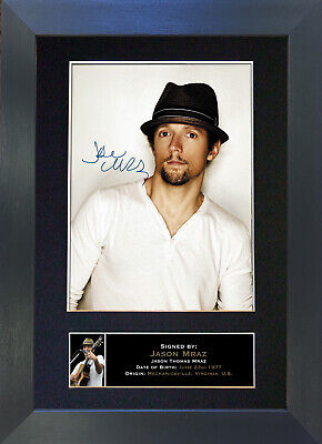 JASON MRAZ Signed Mounted Autograph Photo Prints A4 300