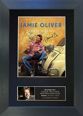 JAMIE OLIVER Signed Mounted Autograph Photo Prints A4 15