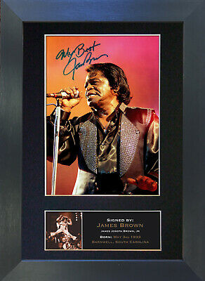 JAMES BROWN Signed Mounted Autograph Photo Prints A4 157