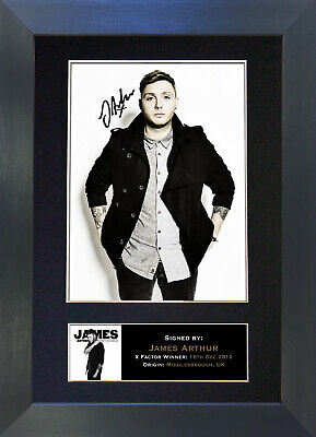 JAMES ARTHUR Signed Mounted Autograph Photo Prints A4 302