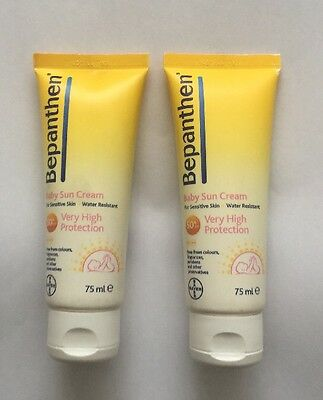 Bayer Bepanthen BABY SUN CREAM Sensitive Skin Very High Protection SPF 50+ x 2