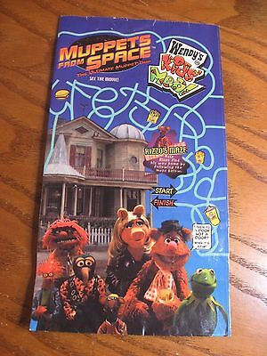 Wendy's Kids Meal - Muppets From Space Movie Empty Bag 1999