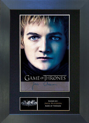 JACK GLEESON Game Of Thrones Signed Mounted Autograph Photo Prints A4 349