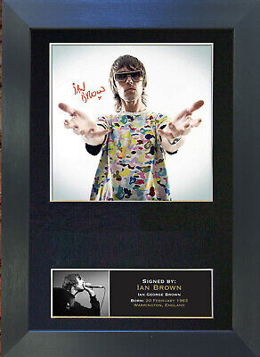 IAN BROWN Stone Roses Signed Mounted Autograph Photo Prints A4 92