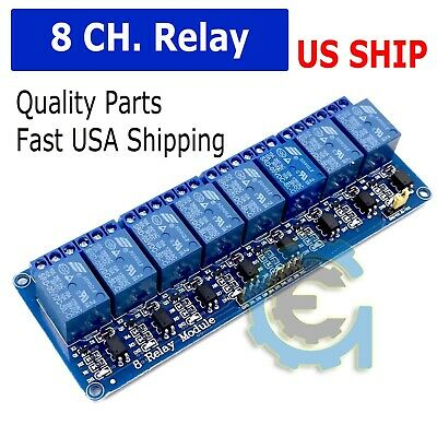 5V Eight 8 Channels Relay Module With Optocoupler for PIC AVR DSP ARM Arduino