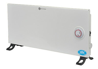 Slimline 600 W White Convector Heater with 24 Hour Timer