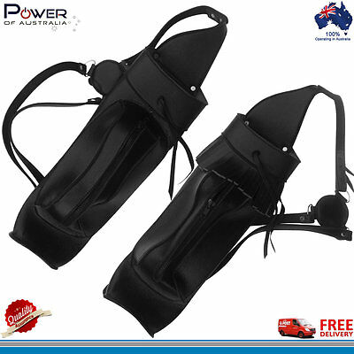 Traditional Pure Leather Back Arrow Quiver with Front Large Zipper Pocket