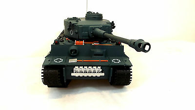 Big 1/18 scale   Radio/Remote Control RC Tiger Tank with Sound Fires 6 mm BBS