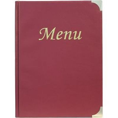 A5 Menu Red Holder Black 8 Pages, Restaurants, Pubs, Bars, Cafe