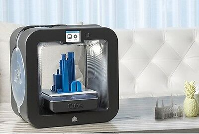 NEW 3D Systems Cube 3D Wireless Printer, 3rd Generation, Grey, 391100